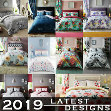 Latest Designs Printed Multi Colour Duvet Quilt Covers Soft Bedding All Sizes