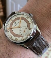 "Girard Perregaux Vintage Two Tone Dress Watch ""Bullseye"" Manual Wind Cal. 03B"