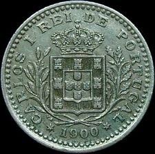 Vintage & SCARCE 1900  PORTUGAL 50 REIS COIN, Extra Fine Condition, NICE COIN