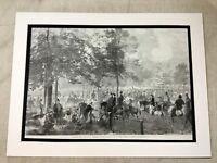 Antique Print Horse Riders London Equine Equestrian Art 1862 LARGE Victorian