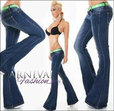 Polyester Plus Size Boot Cut Jeans for Women
