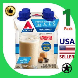 1 Pack Atkins Protein Rich Shake Cafe Caramel 4-11 fl oz