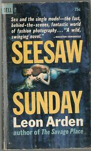 Vtg Pulp Book Fiction Novel Seesaw Sunday by Leon Arden