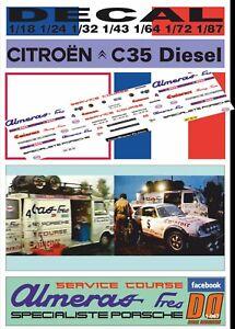 DECAL CITROEN C35 PORSCHE ALMERAS RACING TEAM (06)