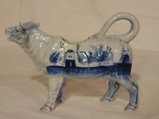 Vintage Delft Holland Porcelain Cow Planter Creamer Pitcher