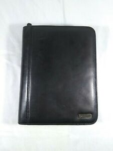 """Franklin Covey Classic 1 1/4""""- 7 Ring Binder Planner 10""""x8"""" Black Leather Sturdy"""