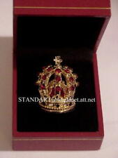 French Empire Emperor Napoleon Miniature Crown with hinged presentation case