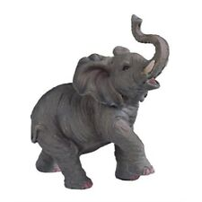StealStreet Ss-G-54135 Small Polyresin Elephant with Trunk Up Figurine Statue,