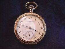 SMITH PATTERSON CO O SIZE OF BOSTON MASS WELL RUNNING POCKET WATCH!   #550AR