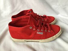 Superga Red Trainers Size UK 9