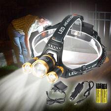 Hell 1600LM 3X T6 CREE LED USB Stirnlampe Taschenlampe SCHEINWERFER KOPF LAMPE
