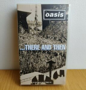 Oasis There And Then VHS Video Cassette Tape Earls Court & Maine Road 17 Tracks