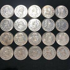 20 LARGE SILVER MEXICO UN PESO 1957-1967 COINS - XF AU - JOSE MORELOS  #97d1