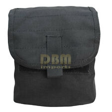 AMMO POUCH Carrier Dump Bag Mag Elastic Utility Pouches Molle Tactical-BLACK
