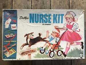 HASBRO 1967 VINTAGE NURSE KIT ACTION GIRL / DOLLY'S NURSE KIT  BOX