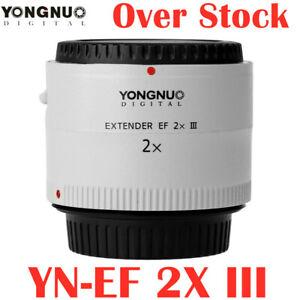 Yongnuo YN-2.0X III 2x Teleconverter Extender Auto Focus Lens For Canon EOS EF