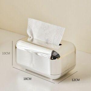 Tissue Box Holder ABS Plastic Paper Rack Napkin Container Gold Organizer Case