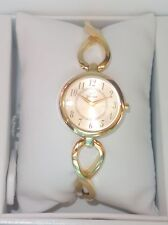 Yonger and Bresson Round Gold IP Steel gold Dial Watch DMP 1507/05 new