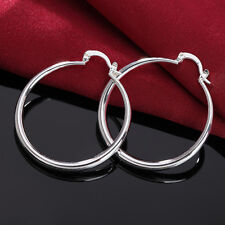 925 sterling Silver Plated jewelry earrings beautiful women classic wedding NEW