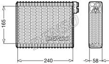 Verdampfer, Klimaanlage DENSO DEV21004 für PEUGEOT
