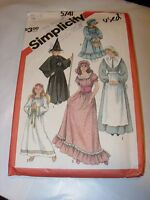 GIRLS CUT SIMPLICITY Sewing Pattern 5741 HALLOWEEN COSTUME SIZE 6-8 WITCH ANGEL