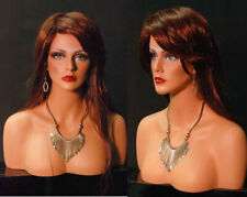 Free Shipping Female Mannequin Display Head with Shoulders