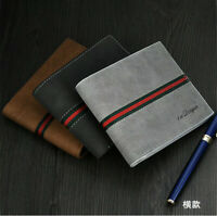 Men Leather Bifold Id Card Holder Purse Wallet Billfold Handbag Slim Clutch