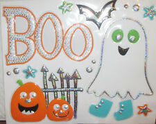 HALLOWEEN wall stickers 14 decals BOO ghost bat pumpkins cute for kids party