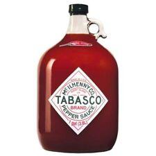 Tabasco Pepper Sauce, 128 Ounce Jug Original Flavor Hot Sauce Ones Wings Spicy