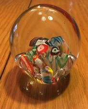 RM157 Limited Walls Glass Paperweight Colorful Florals