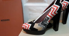MISSONI Court Shoes 6 39 Red Black White Multicolour. New