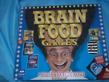 BRAIN FOOD 6 GAMES on 3 CD & 4 high density diskettes for Windows 95 Win 3.1 NEW