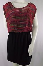 Accidentally In Love Womens Dress Large Black JA60541CQH 12 Mini Multi-colored
