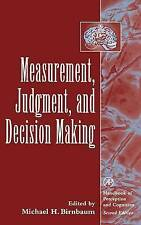 Measurement, Judgment, and Decision Making (Handbook of Perception and-ExLibrary