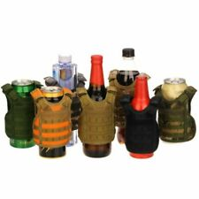 Military Tactical Vest For Soda Beer Bottle Cover Coolie Koozie Molle Supply