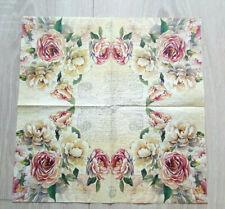 3 Servietten Blumen flower 25x25 Serviettentechnik romantik Schmetterling  158