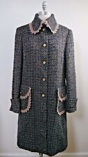 DOLCE & GABBANA brown black gray fantasy tweed coat Italian 46 48
