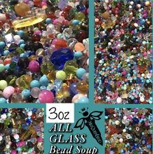 3oz Bead Soup Mix ALL GLASS HUGE VARIETY OF HIGH QUALITY BEADS 👑 BEST MIXED LOT