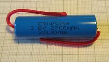 Lithium Batterie  AA Mignon ER14505 2,7Ah 3,6V Axial Draht von Greenergy
