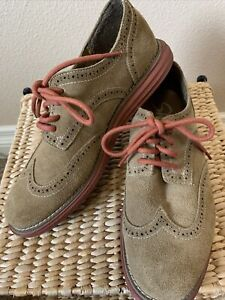 Skechers Womens Tan Suede Wing Tip Oxford Shoes Size 9  no 48160