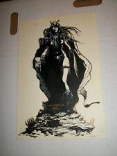 KEVIN RASEL 1997 Sexy Dark Witch Original Comic Art Page
