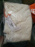 NEW RRP£44.99 LARGE SIZE 14 WOMENS SUPERDRY WILLOW CROCHET KIMONO OFF WHITE BNWT