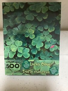 SPRINGBOK- LUCKY CLOVER 500 PIECE PUZZLE