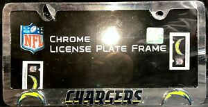 NFL Los Angeles Chargers Chrome License Plate Frame