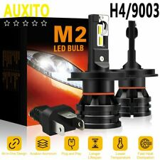 AUXITO H4 9003 LED Headlight Kit High Low Beam Bulbs 12000LM 56W 6500K WHITE M2