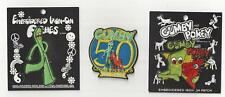 Gumby 3 Patch Combo Iron Or Sew On Hats Caps Jeans Backpacks NEW CLEAN