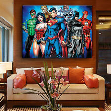 Batman Superman Justice League Hot Movie Poster Oil Painting Giclee Art Print