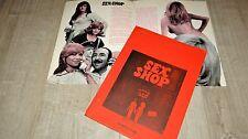 SEX SHOP Claude Berri  ; marielle ; coluche  rare dossier presse cinema 1972