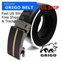 Mens 35MM Casual Belt Genuine Leather Rugged Classic Jean Dress Belt 32-48