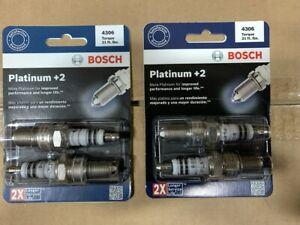 (4) Bosch 4306 Ignition Spark Plugs - Platnium Plus 2
